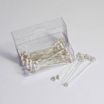 B1721IR Corsage Pins: Diamante: 4mm: Pack of 72: Iridescent